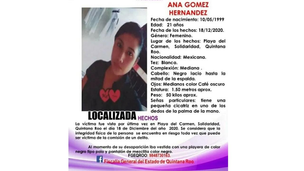 Cuerpo Ana Gómez asesinada Playa del Carmen llegó Chiapas