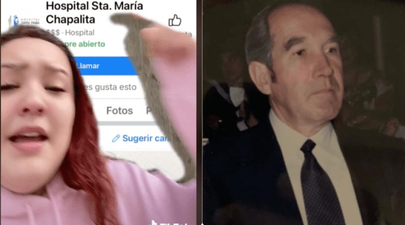 """Una influencer denunció en TikTok la presunta negligencia en un hospital de Guadalajara: """"dejaron morir a mi abuelo""""."""