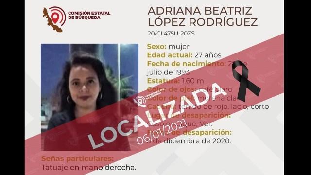 Encuentran cuerpo Adriana Beatriz dentro de una maleta