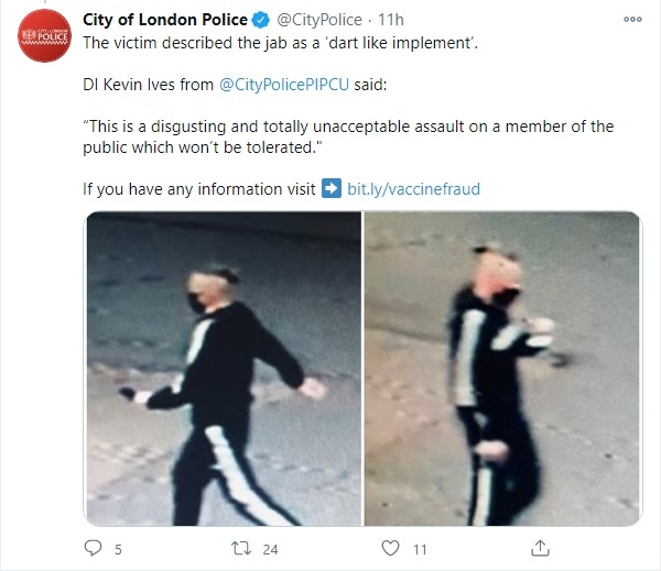 Policía Londres estafador