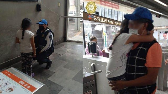 En la CDMX, una niña de 8 escapó de casa por los maltratos de su mamá para ir a buscar a su papá; lo encontró con ayuda de la policía