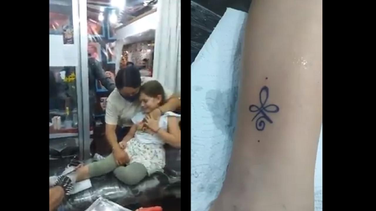 Controversia video niña llevada padres tatuarse Colombia