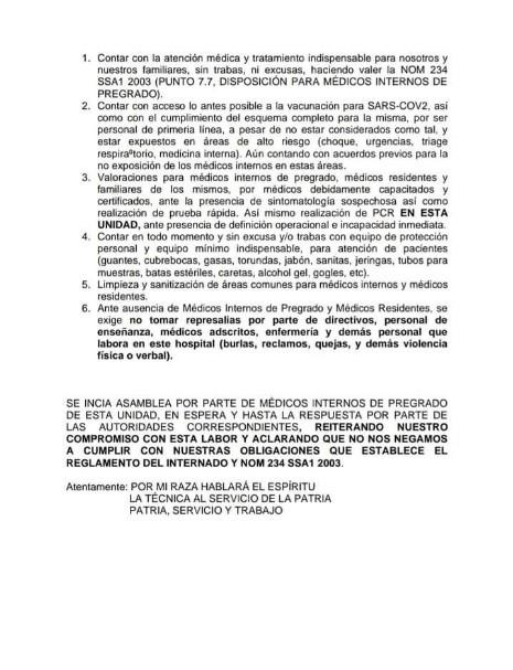Documento 3 médico murió COVID-19 trabajaba sin protección