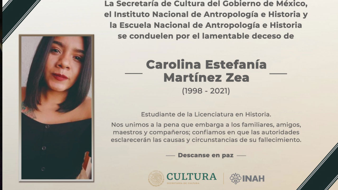 Tras una semana desaparecida, autoridades de la CDMX encontraron el cuerpo de Carolina Martínez, estudiante de la ENAH