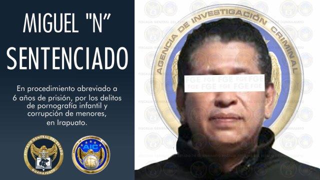 Dan sentencia mínima a Miguel 'N' en Guanajuato por los delitos de pornografía infantil y corrupción de menores