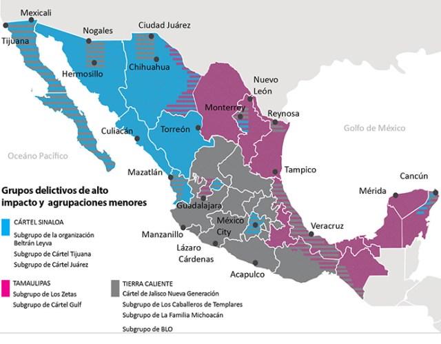 Cártel de Sinaloa y Nueva Generación, los líderes del narco en México