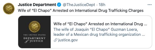 FBI acusa a Emma Coronel de narco, soborno y participar en la fuga del Chapo