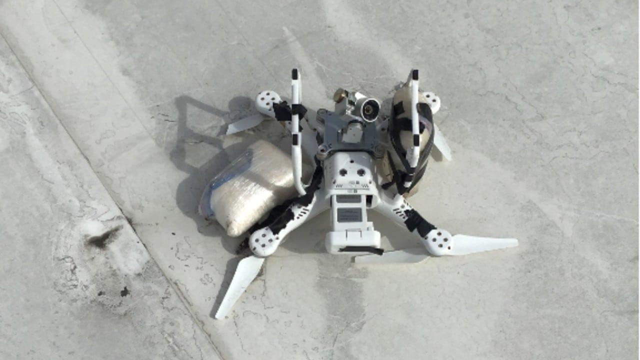 Dron metanfetamina frontera México EEUU