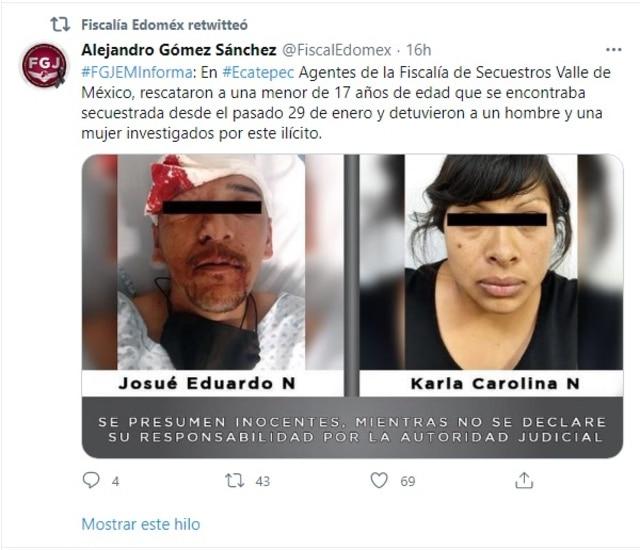 FGJEM joven secuestrada Ecatepec