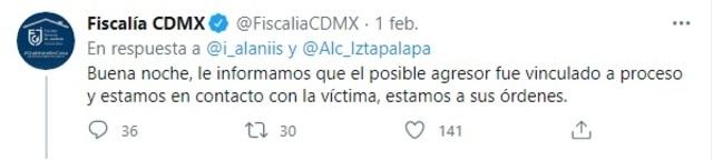 Respuesta Fiscalía CDMX video sujeto agrede mujer Iztapalapa