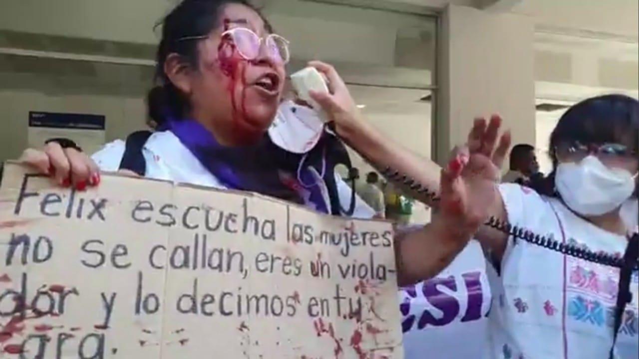 Simpatizantes Salgado Macedonio golpean feministas Iguala