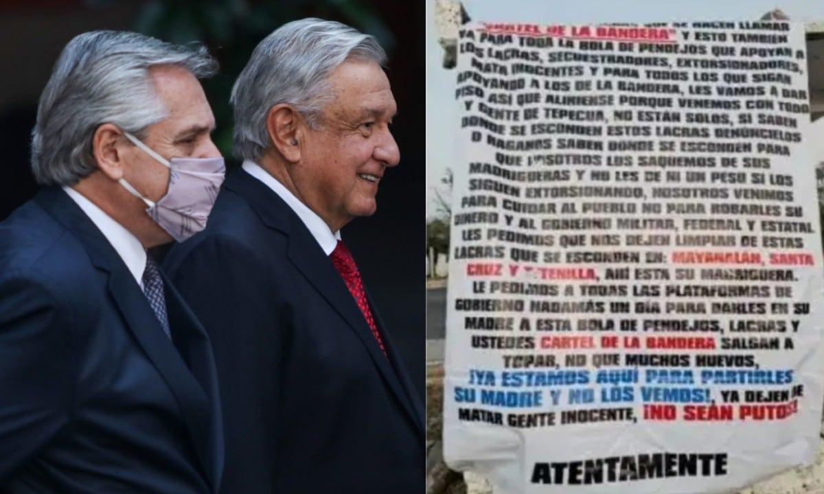 Iguala amanece con narcomantas previo a la visita del Presidente de México y Argentina