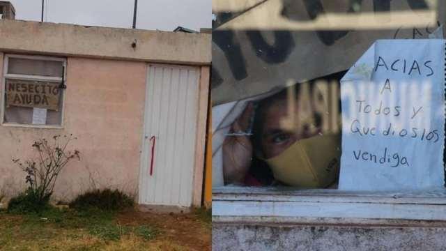 Puebla: familia se contagia de Covid-19, piden ayuda por la ventana