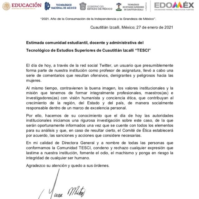 Denuncian a profesor del Edomex por hacer apología a la violación