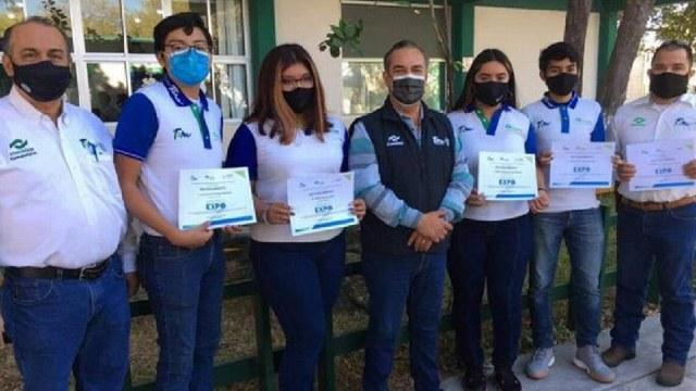 Estudiantes del CONALEP ganaron segundo lugar en un concurso de Ciencia y tecnología