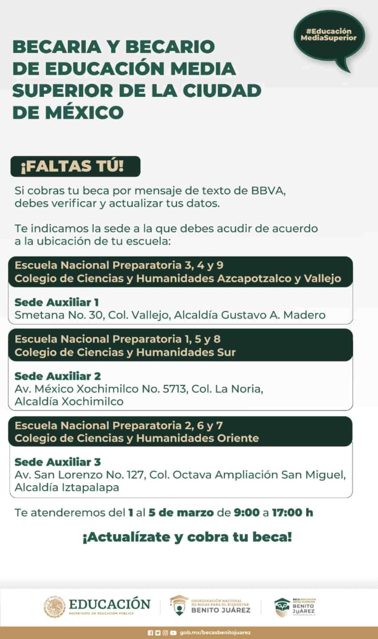 Becas Benito Juárez actualizar datos