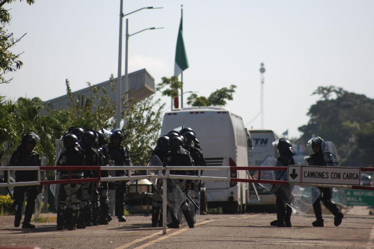 Guardia Nacional migrantes El Ceibo Chiapas
