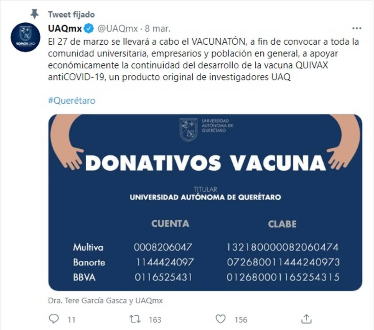 UAQ vacunatón desarrollo vacuna COVID-19