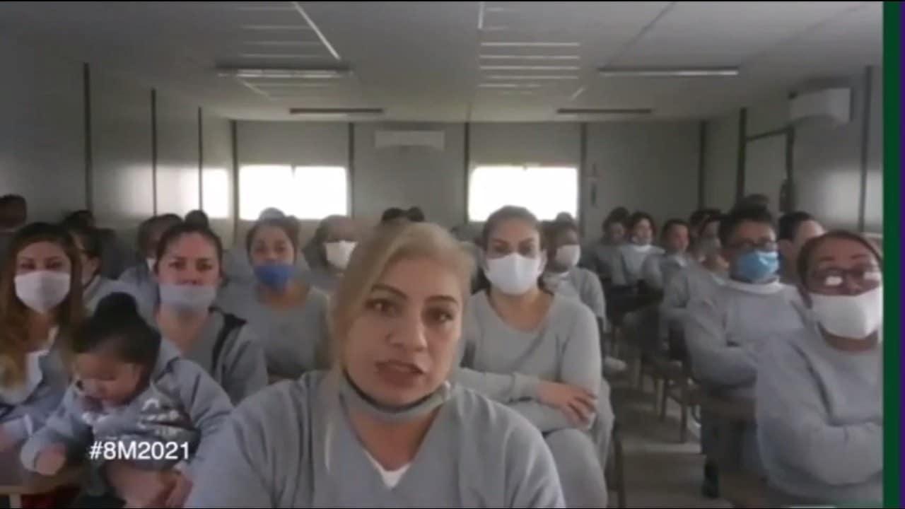 video mujeres reclusión envían mensaje por 8M