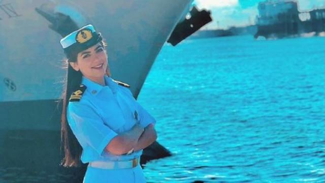 Primera capitana Egipto bloqueo canal de Suez