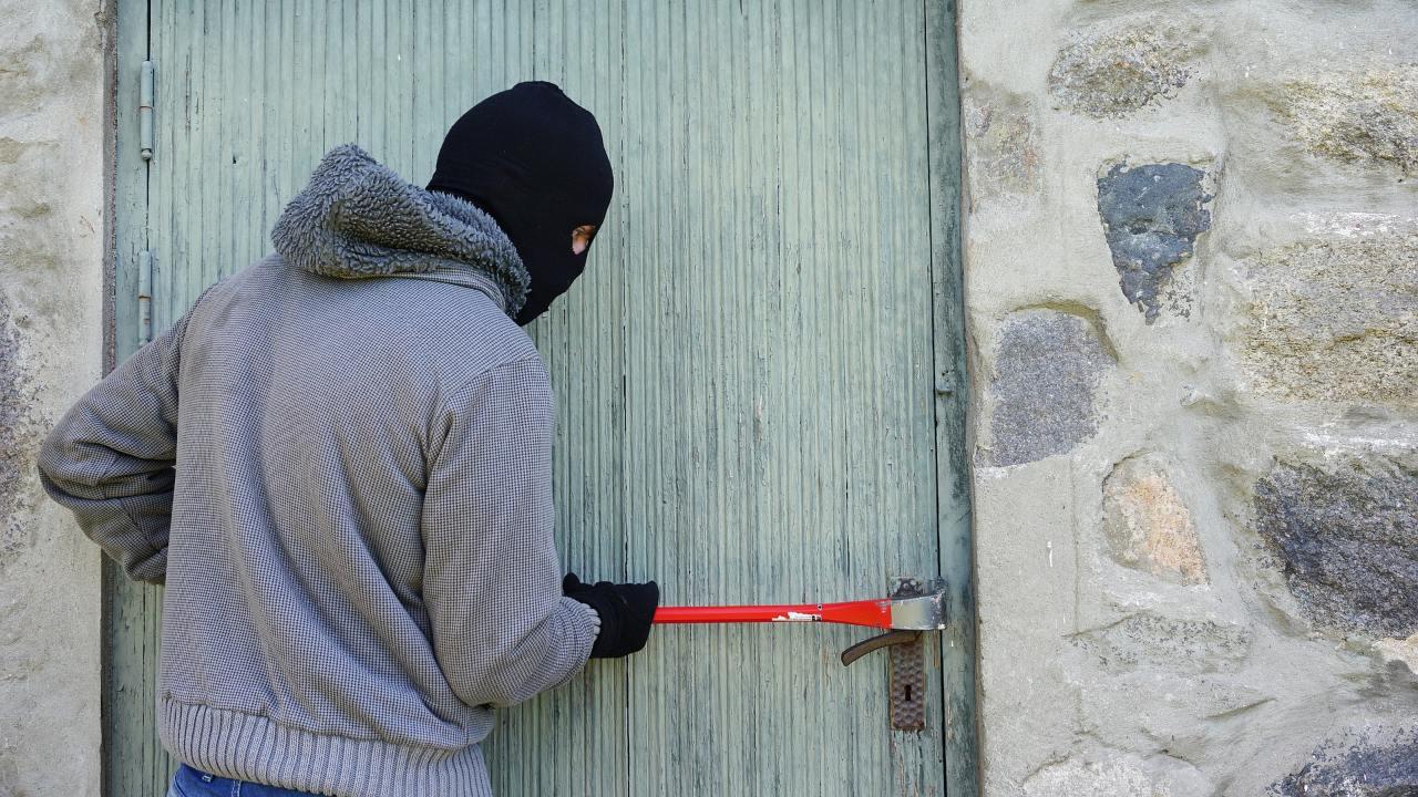 que significan marcas ladrones robar casas