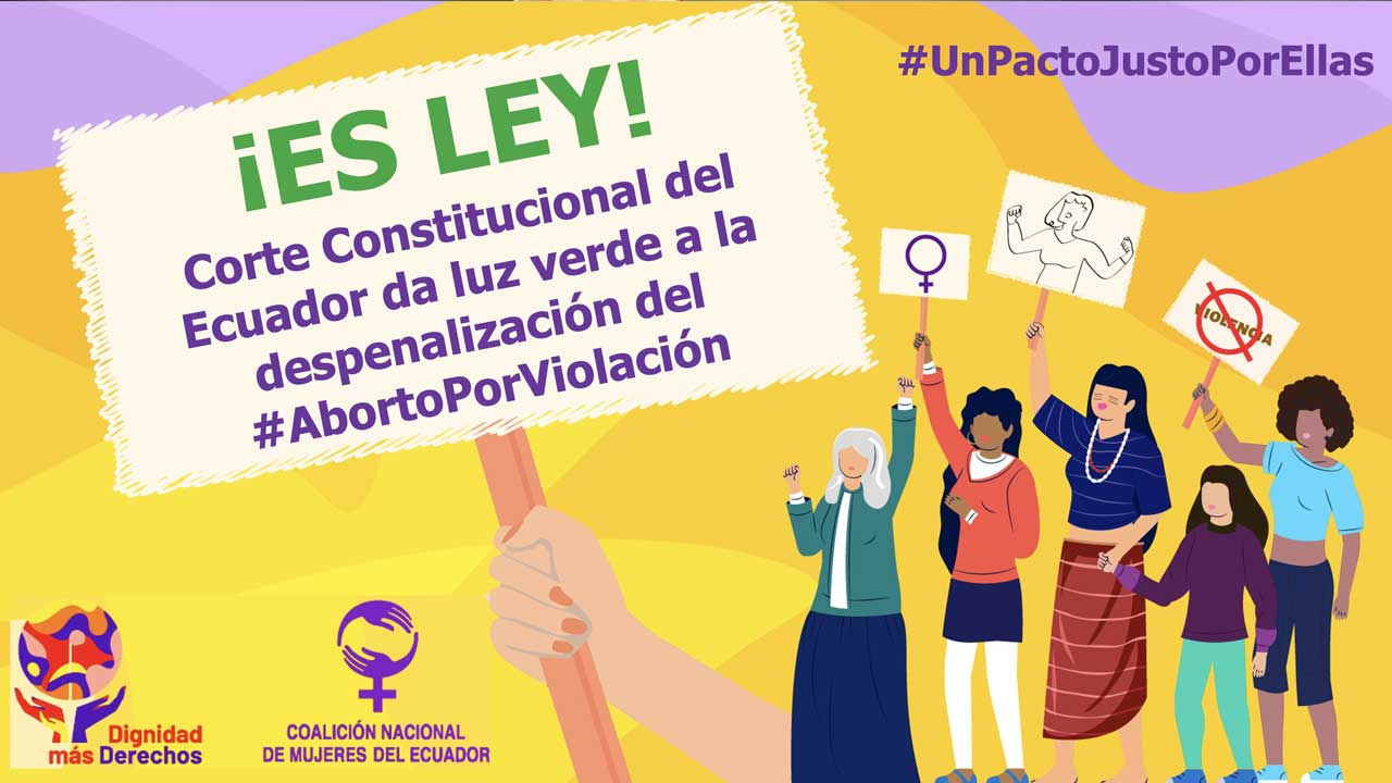 Despenalizan aborto en Ecuador por violacion