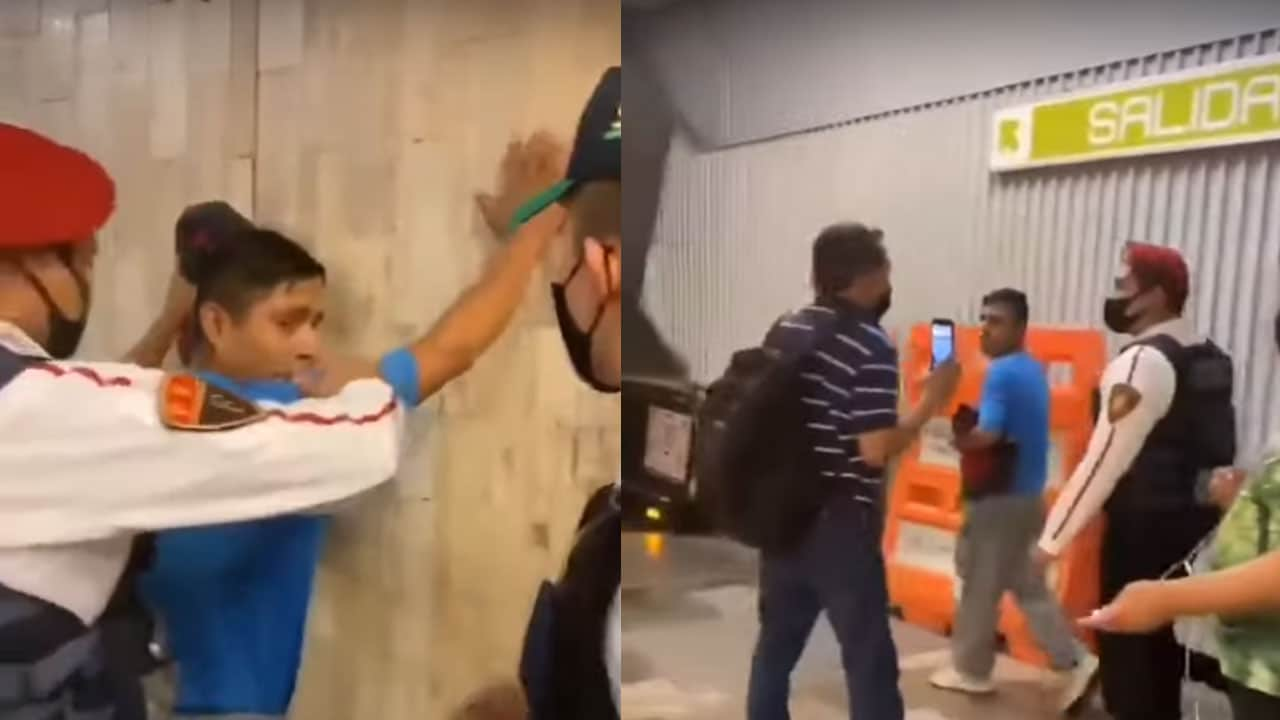 video homofobia metro CDMX pareja gay
