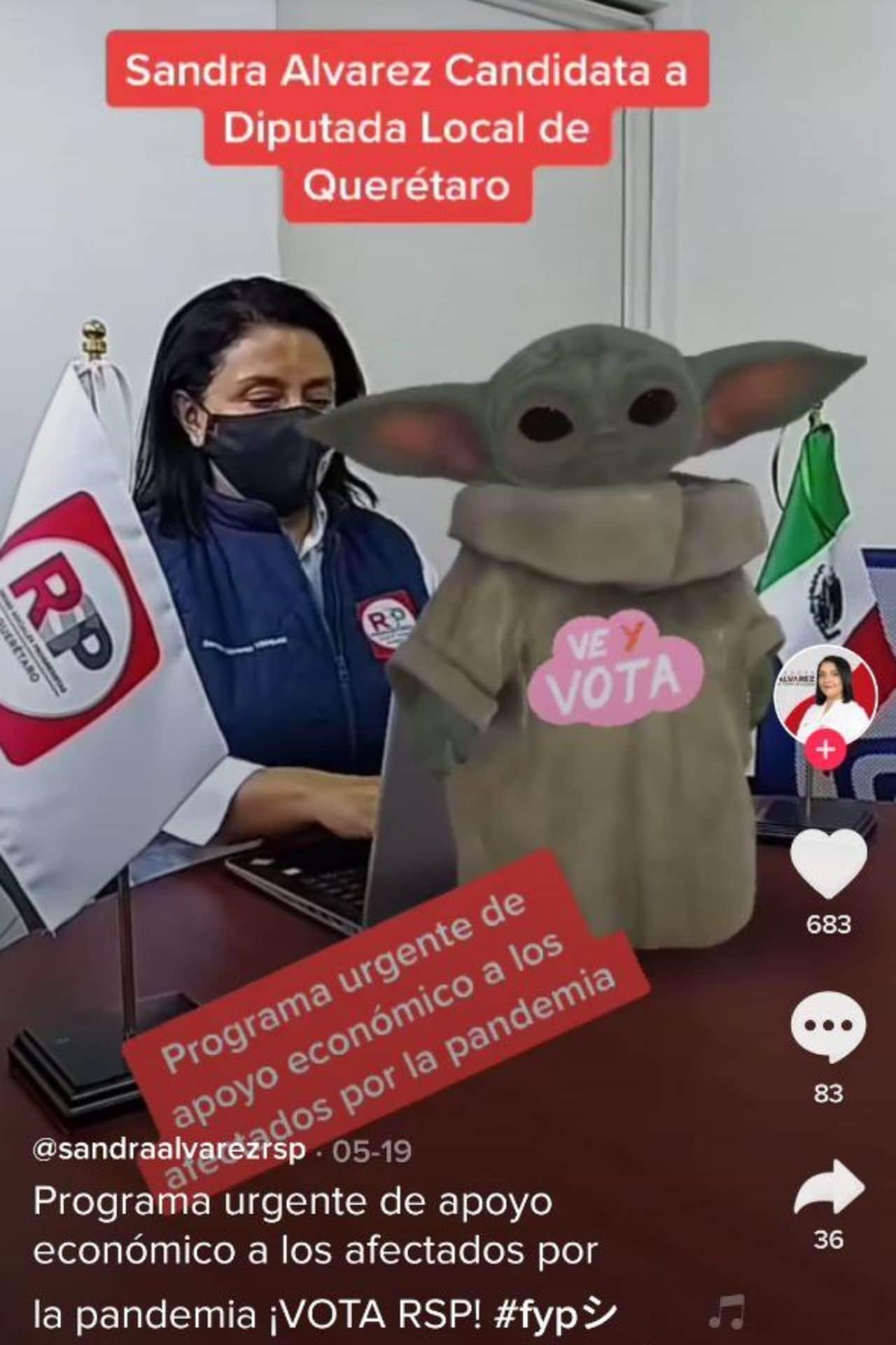candidata Sandra Álvarez TikTok
