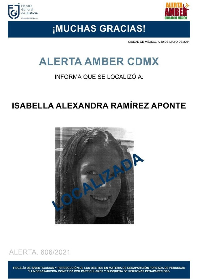Isabella Alexandra desaparición CDMX