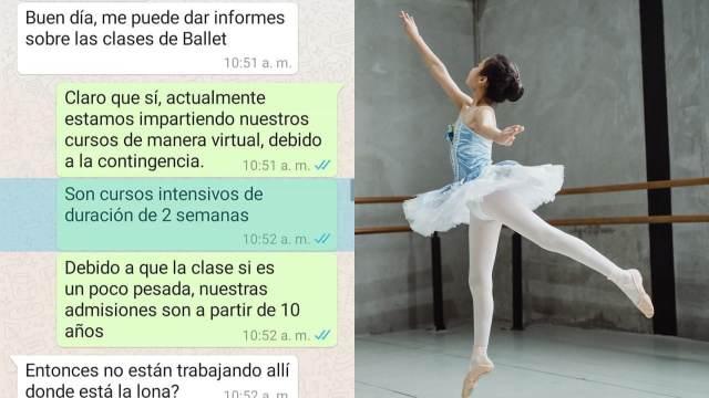 Informes de clases de ballet viral Facebook