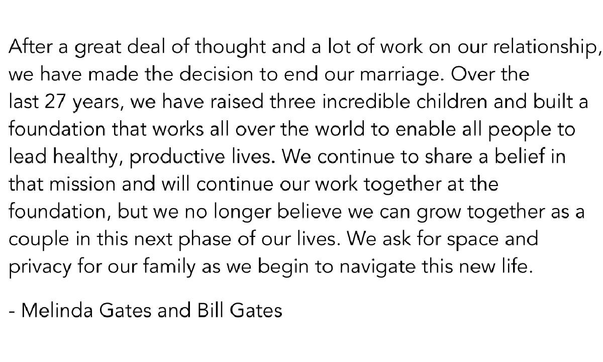 Divorcio Bill Gates Melinda Gates Filantropía