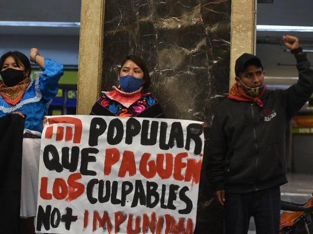 Paso Libre Metro Zapata Protesta Línea 12