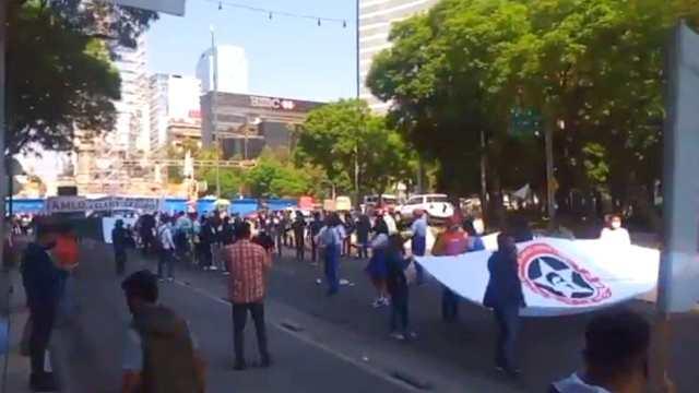Protesta clases presenciales CDMX
