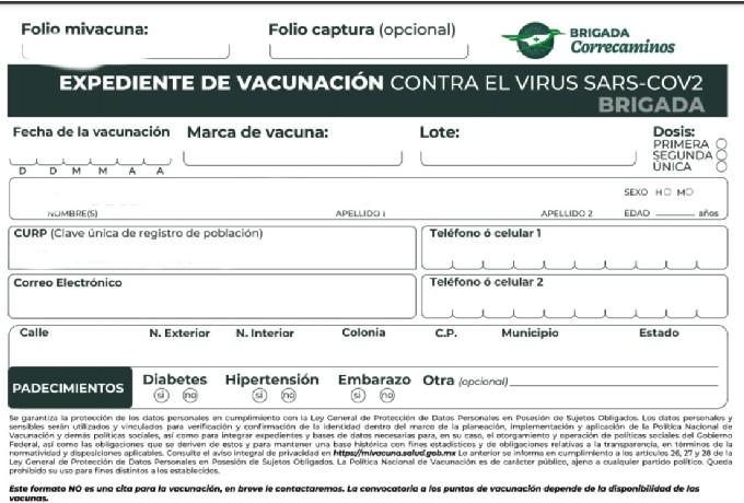 Covid-19 Registro Vacunación 40 a 49 años México