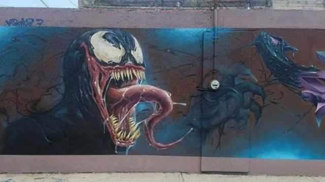 mural venom propaganda política