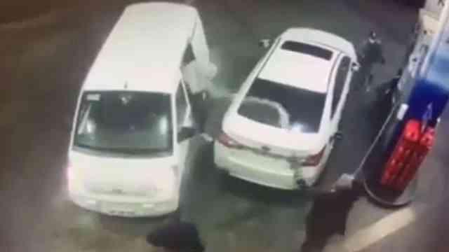 Video asalto gasolinera frustrado