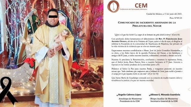 Asesinan sacerdote fuego cruzado criminales