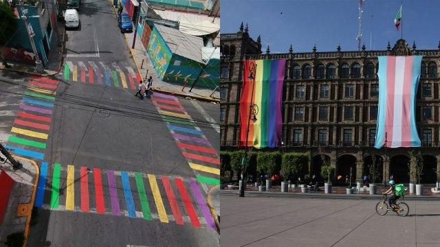 Iztapalapa se pinta con los colores del orgullo de la comunidad LGBT