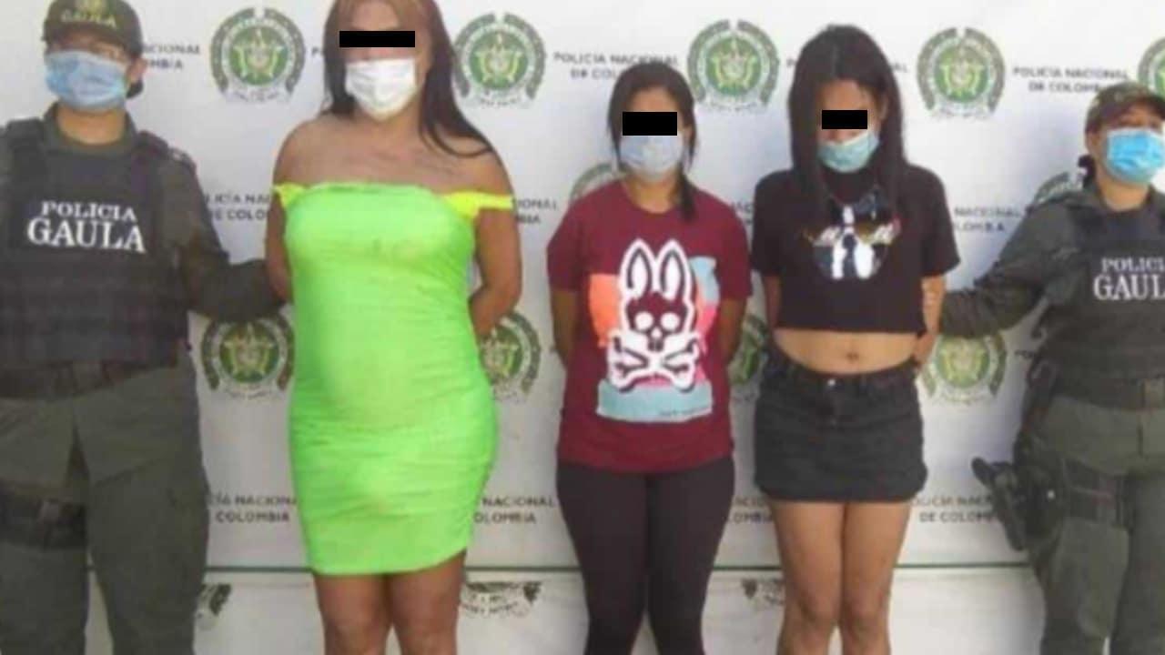 Garras mujeres que extorsionaban hombres mediante sexting