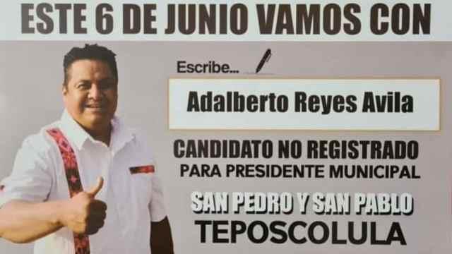 Adalberto López, el candidato sin registro que ganó en Oaxaca
