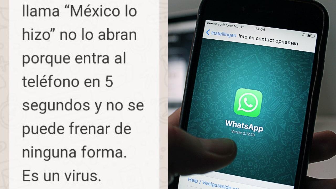 Alertan de virus en WhatsApp llamdo 'México lo hizo'