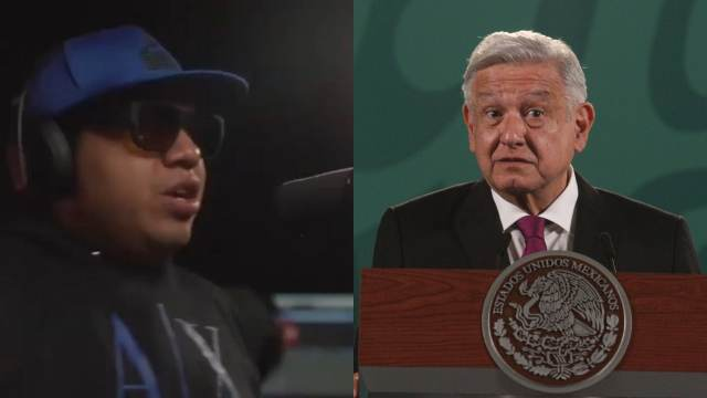 Mc Dinero lanza rap contra AMLO