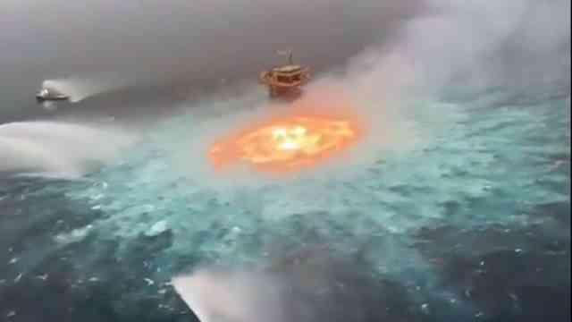 Puede haber fuego en el mar