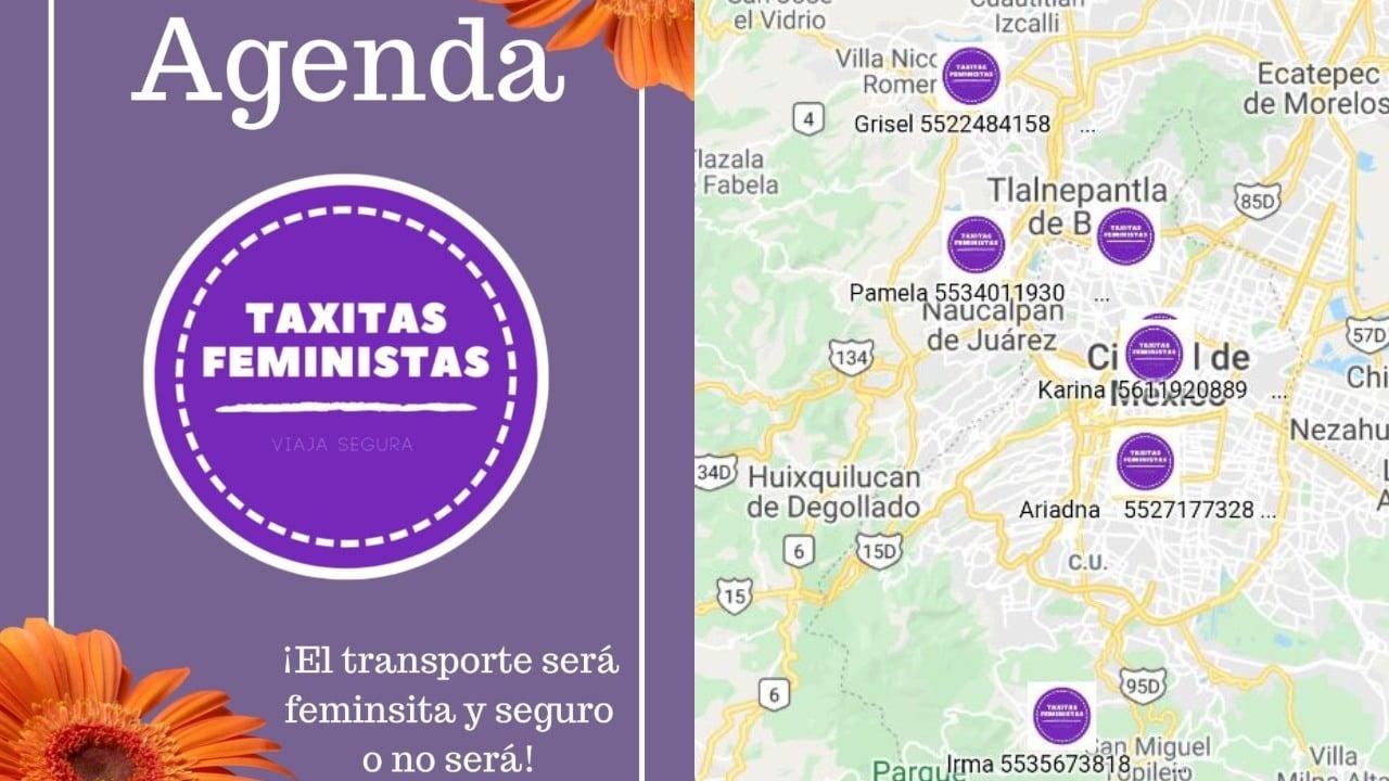 Taxitas Feministas taxi seguro para mujeres