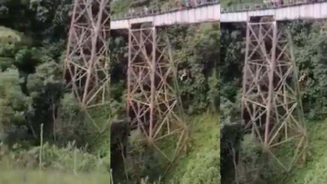 Joven murió tras saltar del bungee