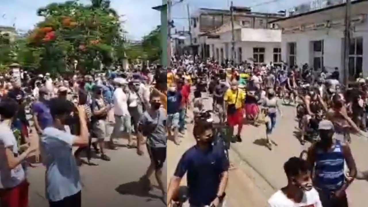 Cuba Miles toman las calles para protestar contra el gobierno
