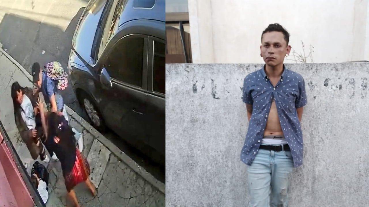 Video Detiene Hombre Golpeó Robó Mujer Guatemala