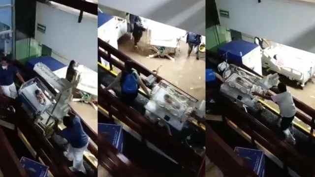 Sacan a pacientes de Hospital de Atizapán de Zaragoza por inundaciones