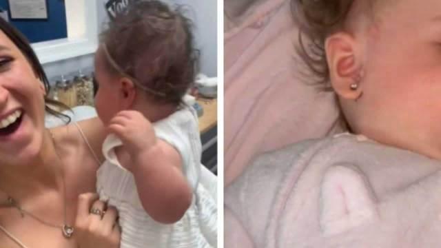 Perforan orejas de bebé y critican a la madre en TikTok