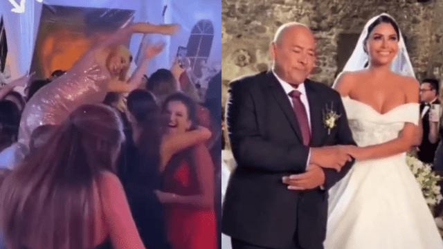 Con 300 invitados y sin medidas sanitarias, la modelo Kristal Silva celebró su boda